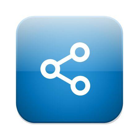 Compartir icono de la muestra. Enlace símbolo