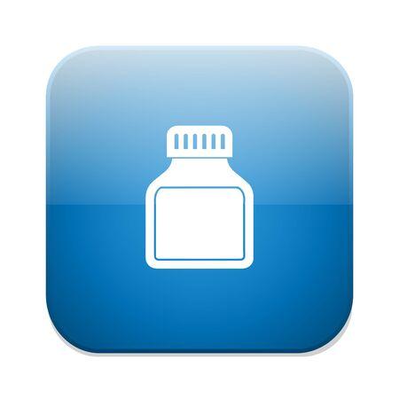 the antibiotic: antibiotic bottle icon Illustration
