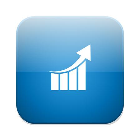 Gráfico de barras Gráfico icono. Representación del esquema. Estadísticas. Ilustración de vector