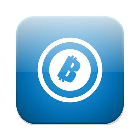 cryptography: Bitcoin sign icon. Illustration