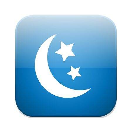 standby: Sleep sign icon. Moon with stars button.