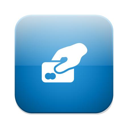 debit: Credit card sign icon. Debit card symbol