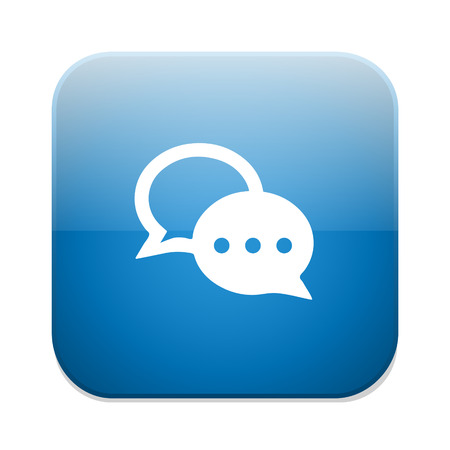 chat bubbles: Chat sign icon. Speech bubbles symbol. Communication chat button. Illustration