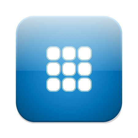 thumbnails: Thumbnails grid icon. Gallery view option symbol.
