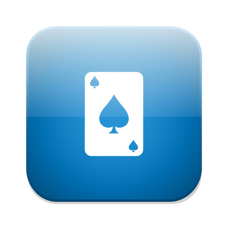 ace of hearts: Casino icon. Playing cards symbol. Ace of hearts.