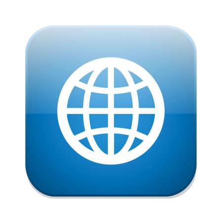 internet icon: globe icon Illustration