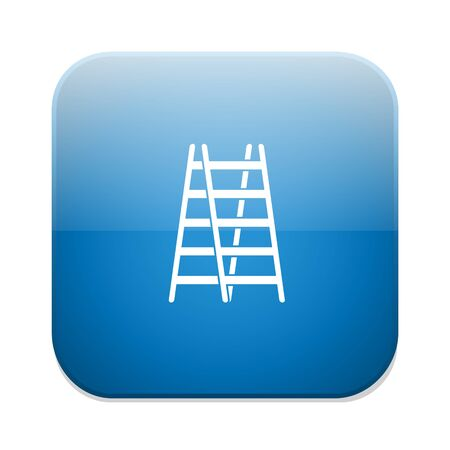 step ladder: step ladder icon Illustration