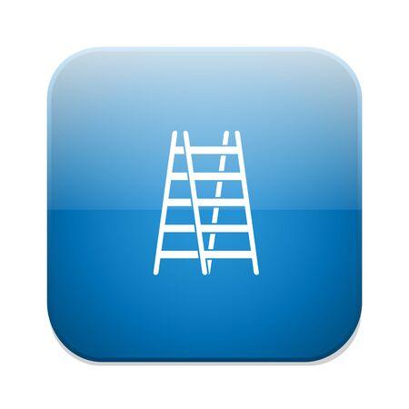 step ladder icon Illustration