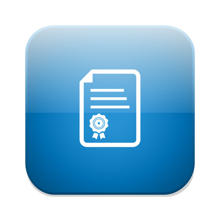 document icon: certificate icon