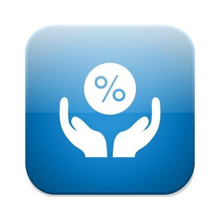 percent sign: Discount percent sign icon.