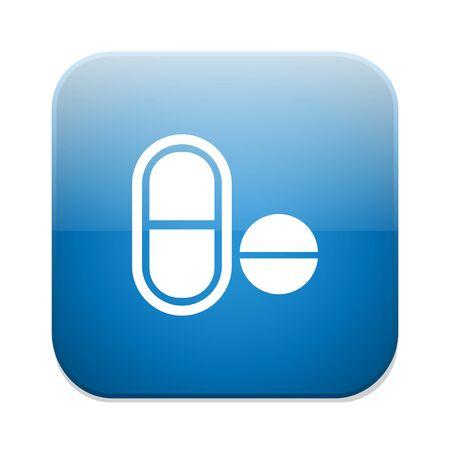 medical symbol: Medical pill icon. Drugs symbol.