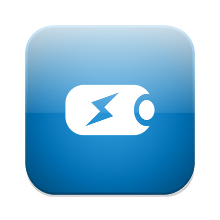 charging: Battery charging sign icon.