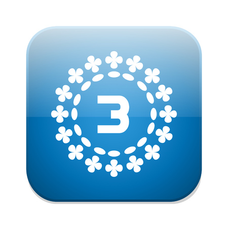 and the third: Third place award icon. Prize for winner symbol.