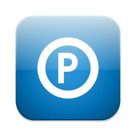 parking sign: parking sign icon. Car parking symbol. Illustration