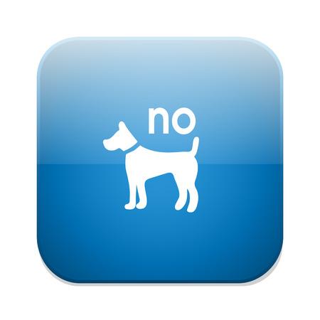 illegal zone: Dog sign icon. Pets symbol Illustration