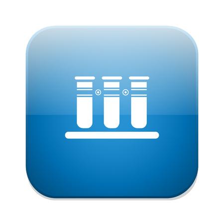 medical laboratory: Medical test tube icon. Laboratory equipments