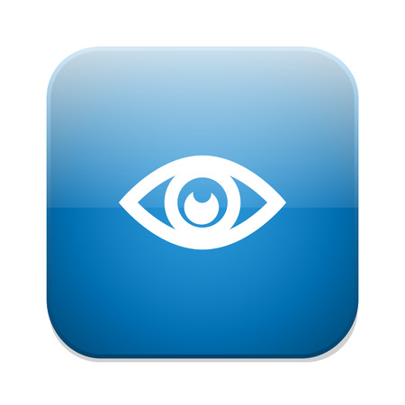 publish: Eye sign icon. Publish content concept. Visibility button.
