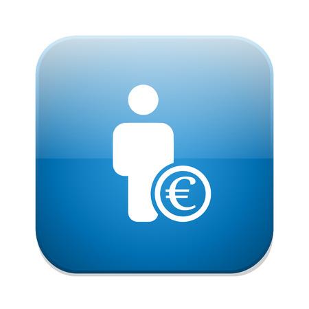 Bank loan euro icon