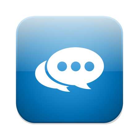 chat bubbles: Chat icon. Speech bubbles button. Communication chat bubbles.