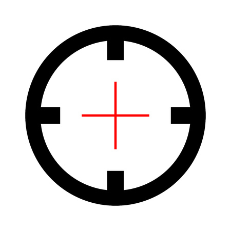 Target aim icon, vector target symbol - target illustration