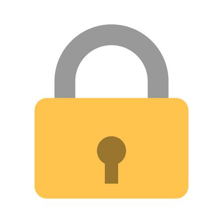 Locker icon, vector padlock symbol, key lock illustration, privacy and password icon