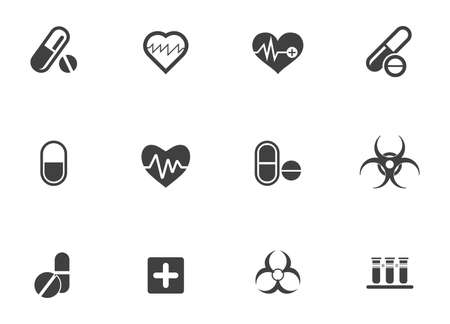 Health & Medical icons set - hospital care and medicine pill - first aid sign and symbols 版權商用圖片 - 157197392