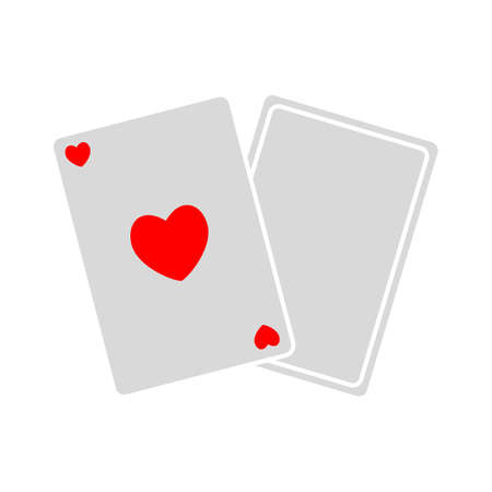 Casino sign. Playing card icon.