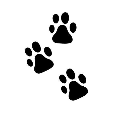 Paw icon. Dog pets steps symbol. Vecteurs