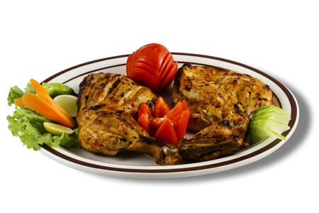 pakistani: grilled pieces of chicken