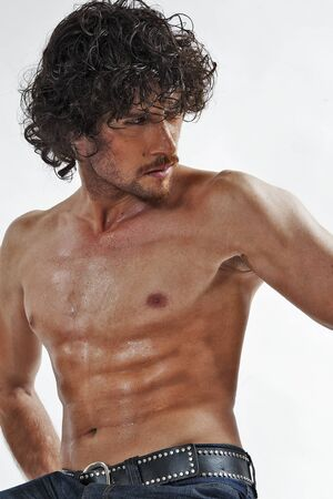 semi nude portraits of a handsome muscular man Stock Photo - 9855897
