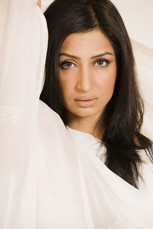 beauty shot of an Indian female model in studio. Stock Photo - 9978479