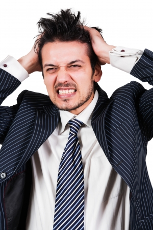 frustrated man: portrait Stock Photo