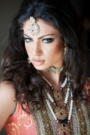portrait of a beautiful Indian bride