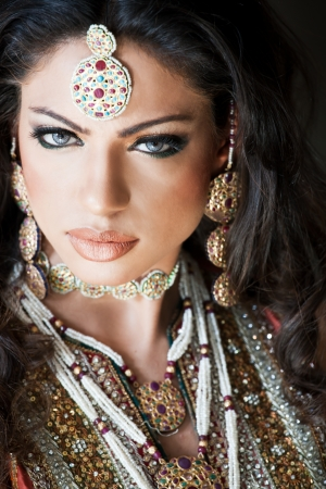 portrait of a beautiful Indian bride Stock Photo - 14183135