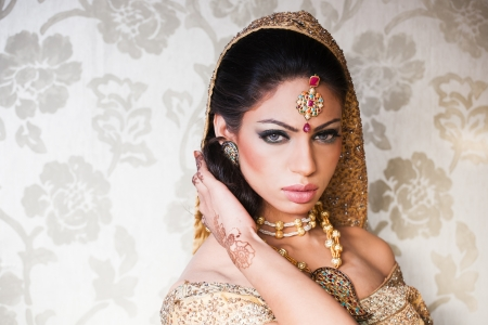 portrait of a beautiful Indian bride Stock Photo - 14182882
