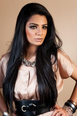 portrait of a beautiful Indian bride photo