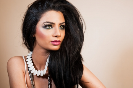 beauty portrait of an attractive Indian girl photo