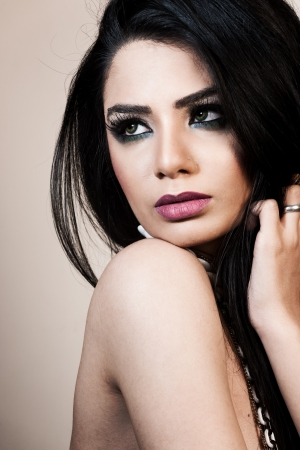 indian girl: beauty portrait of an attractive Indian girl Stock Photo