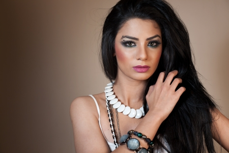 female fashion model wearing jewellery photo