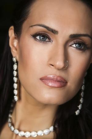 female fashion model wearing traditional Indian Jewellery photo