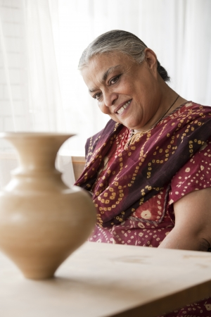 portrait of a senior indian woman  photo