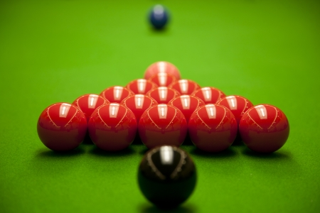 opening frame of the snooker  photo