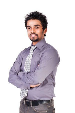 portrait of a young happy Indian businessman Stock Photo