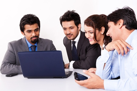 group of multi racial business people in meeting