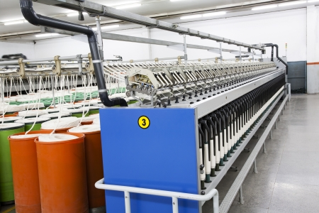 roving: textile spinning mill  Stock Photo
