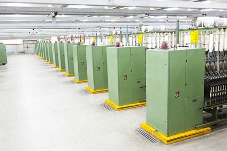 row of textile machines photo
