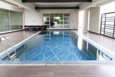 swimming pool in a luxury house photo
