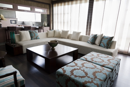 center table: living room of a modern apartment