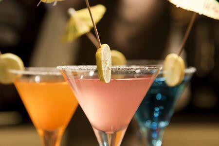 set of lemonade drinks including peach and orange