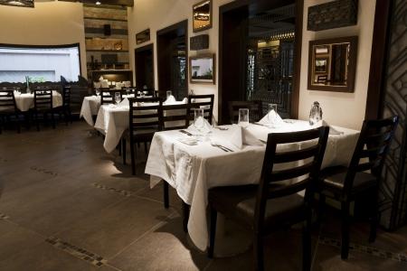 interior of a modern design restaurant photo